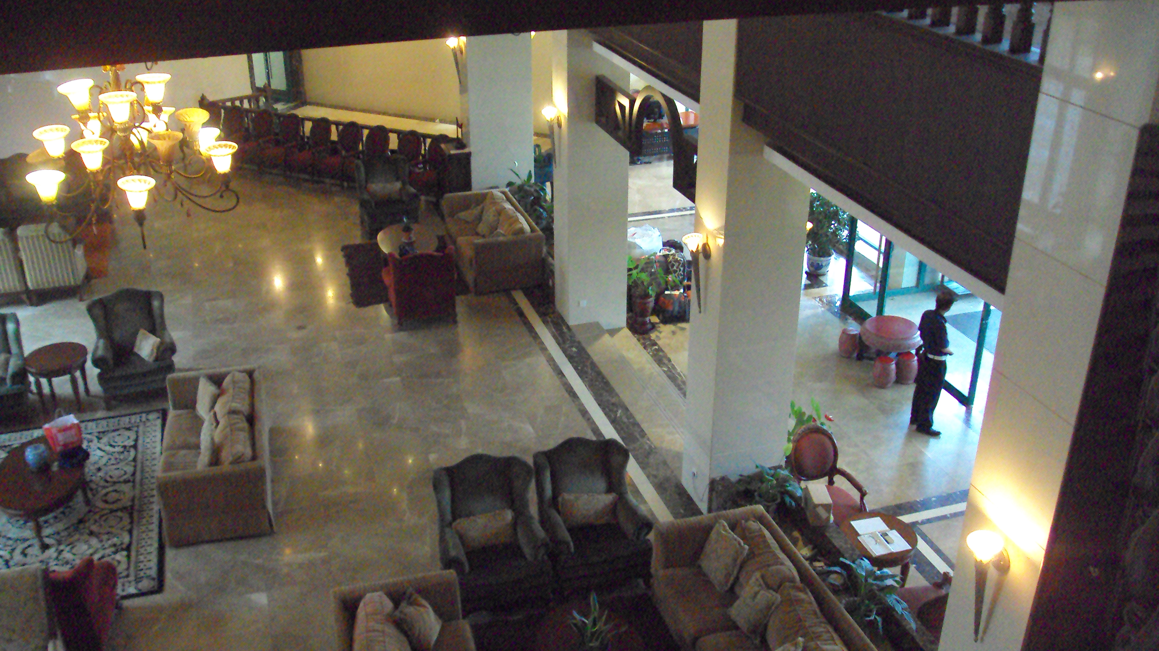 the lobby to our building